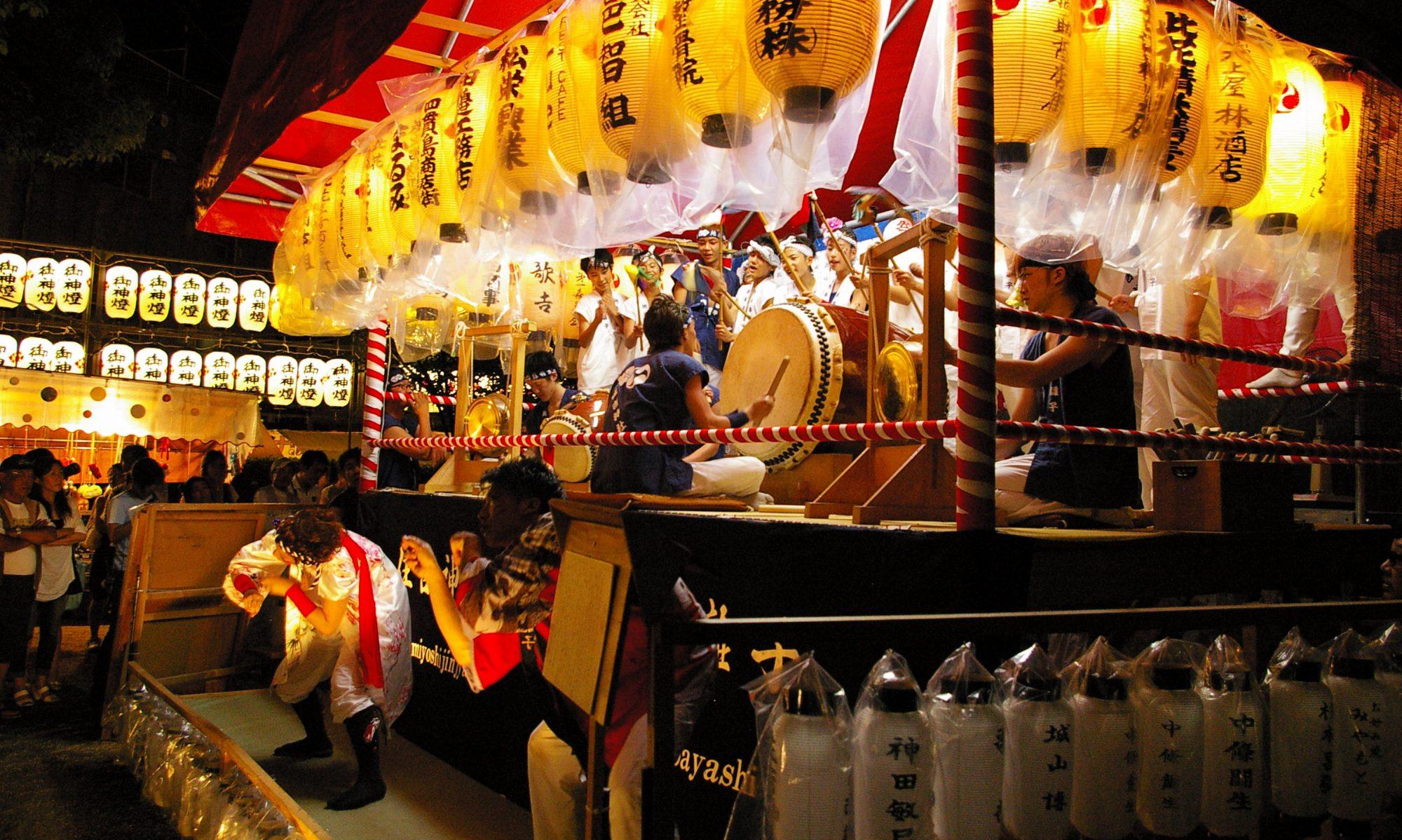 住吉神社地車会 「舞鼓」&「舞狐」